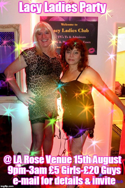 Lacy Ladies Monday Night T-Girl & Admirers Club